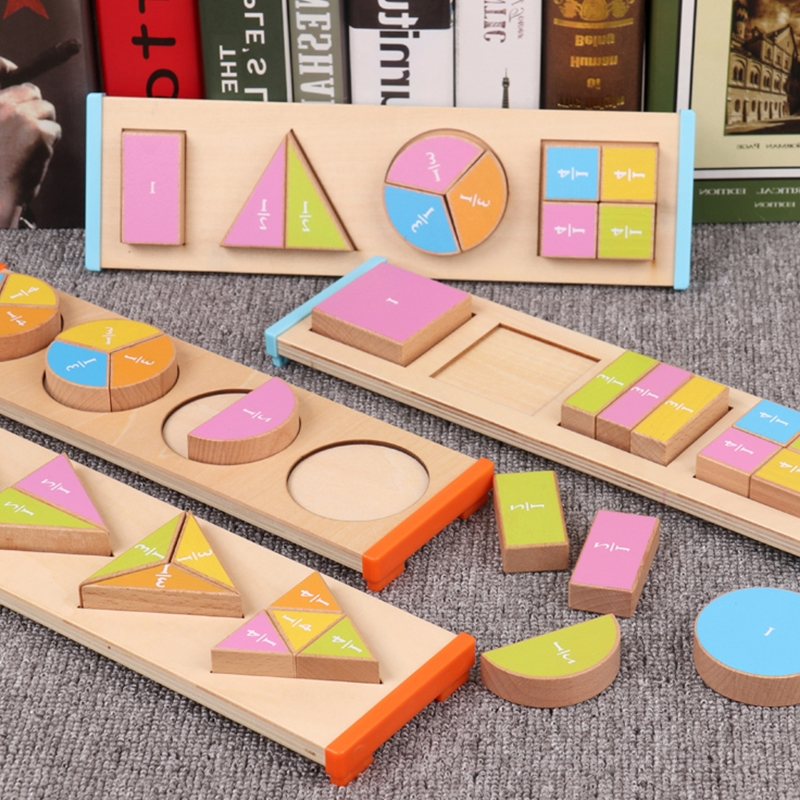 2019 newest Wooden Educational montessori Toy Children's Early Education Montessori wooden block Teaching Aids Geometric