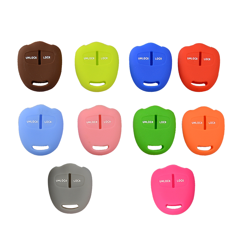 Colorful Silicone 2 Buttons Soft Rubber Remote Car Key Cover Case For Mitsubishi Lancer EX ASX Outlander Galant Pajero Protector