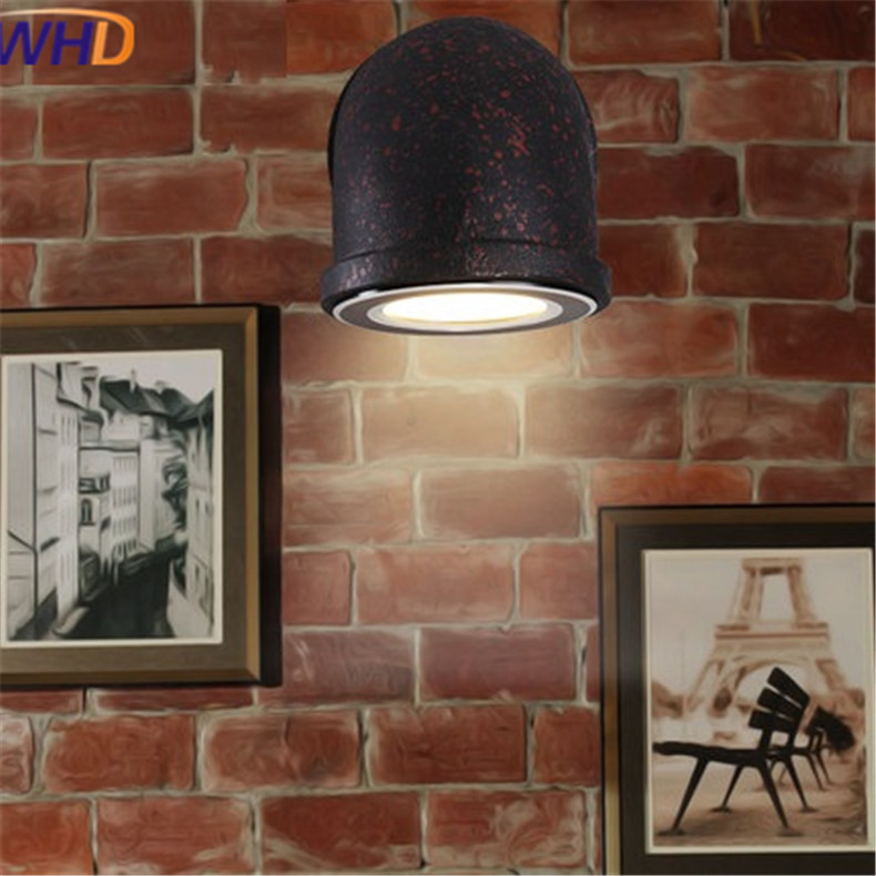 Loft Style Industrial Water Pipe Lamp Iron Vintage Wall Light LED Wall Sconce Indoor Lighting Antique Home Lighting Lamparas