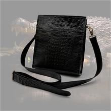 crocodile leather shoulder bag male crocodile leather bag oblique cross bag  crocodile men handbag все цены