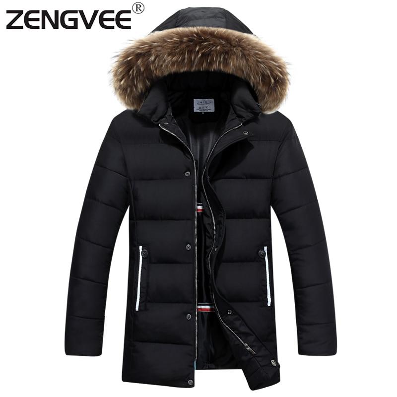 ФОТО Winter Jacket Men 2017 Stylish Fashion Men Coats Jackets Causal Hooded Thick Sportwear Comfortable Outwear For Men