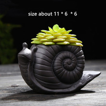3D Animal Snail Craft Gardening flower pot Silicone Mold for Concrete Planter