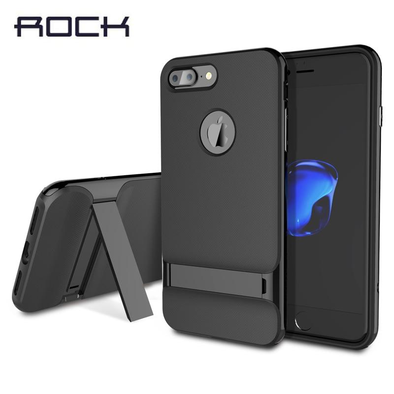 imágenes para Caja de la roca Para el iphone 7/7 Plus Caso Pata de Cabra de lujo Royce titular de marco de la PC + TPU caso de la contraportada para el iphone 7 Más caso