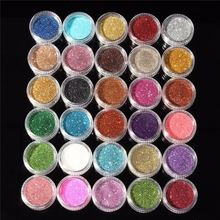 30pcs Mixed Colors Powder Pigment Glitter Mineral Spangle Eyeshadow Makeup Cosmetic Set Long-lasting 2017 Random Color