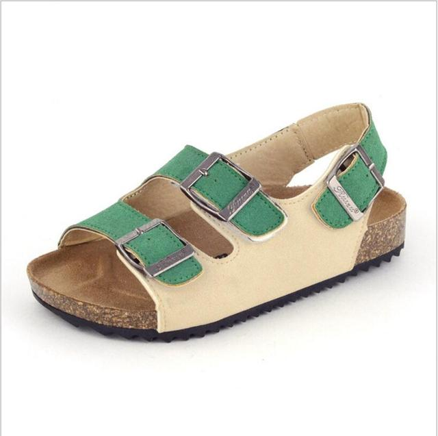 Летние детская обувь детская сандалии Дети мужского пола сандалии из натуральной кожи ребенок пляж детские сандалии размер 22-38 519