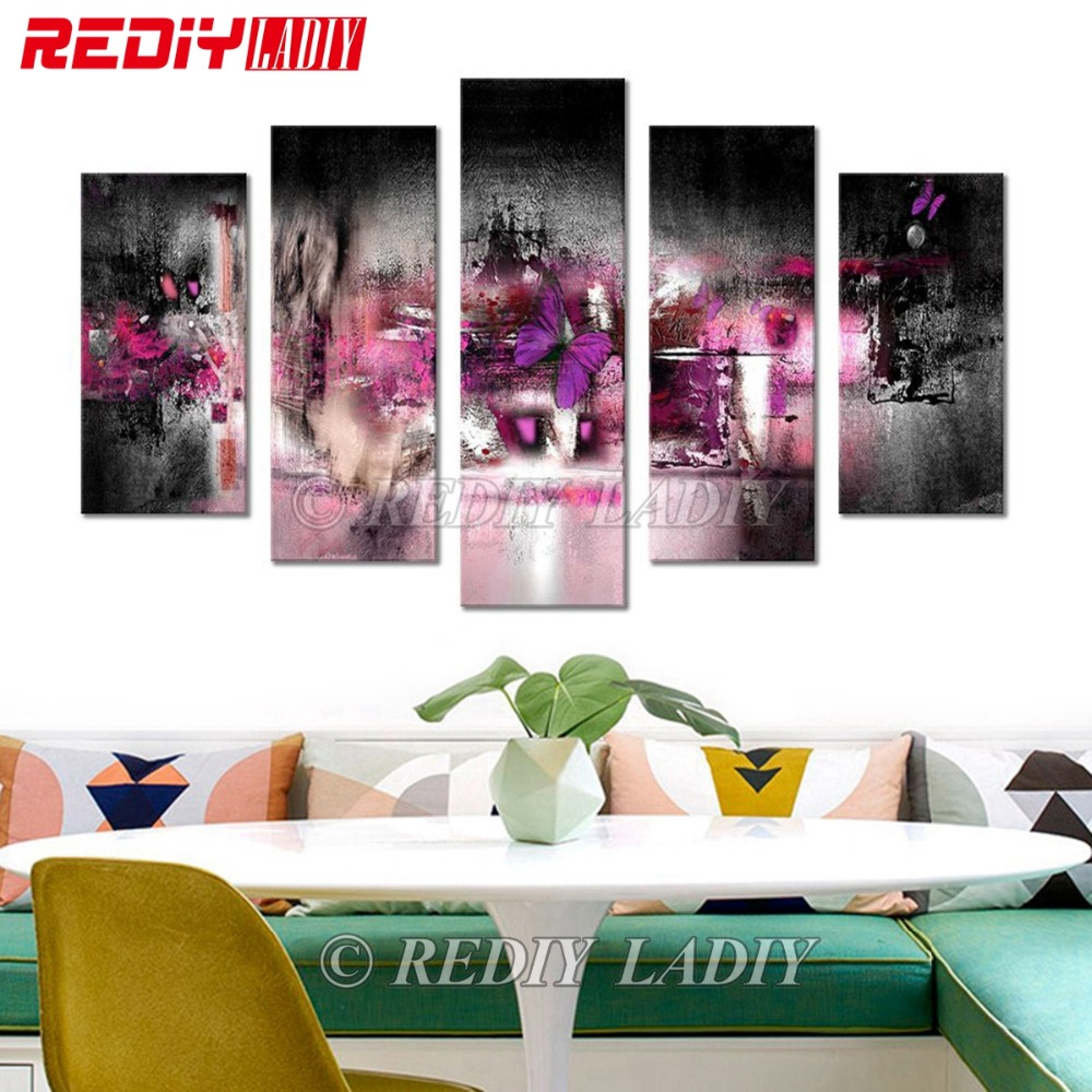 REDIY LADIY Diamond Painting Abstract Drawing Diamond Embroidery Triptych Rhinestones Modular Picture Wall Arts Hobby Crafts