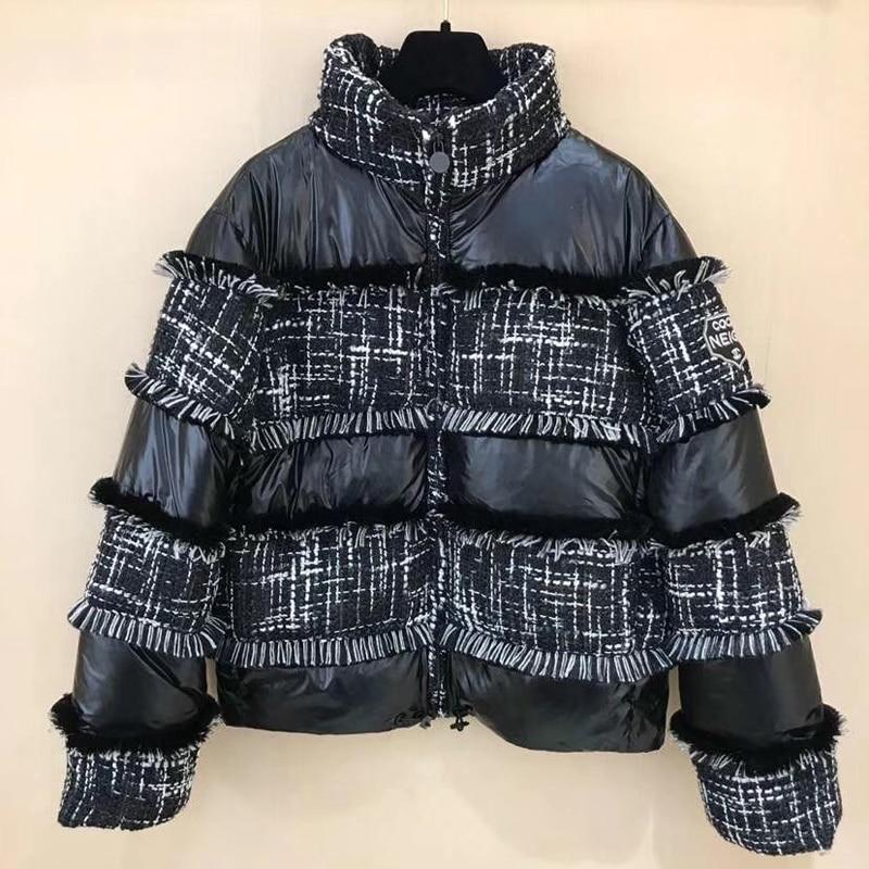 Veste d'hiver pour Femmes à Manches longues Col Roulé de Haute Qualité lady Noir Manteau 2018 nouvelles Femmes Veste pour L'automne