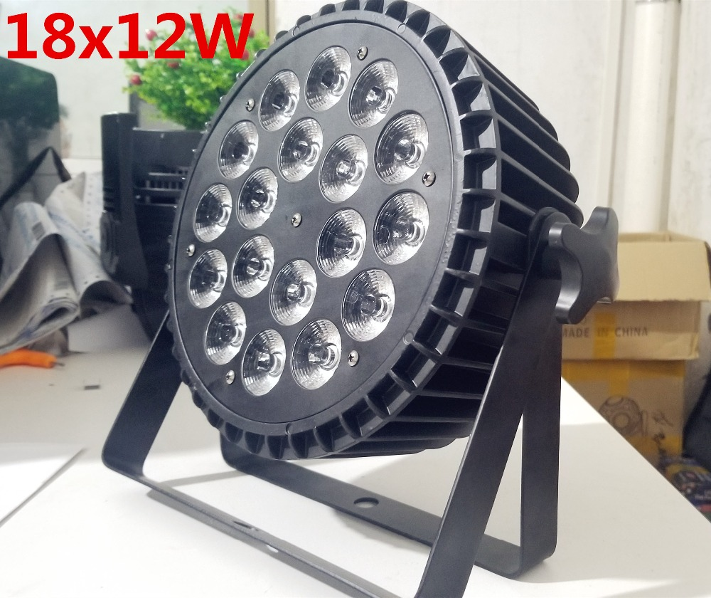 Lumière d'étape 18x12 W RGBW 4in1 Par LED LED par lavage par LED plat Par LED peut 18x12 W allumant pour la lampe de DJ de Disco de KTV de partie