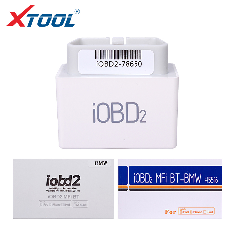 2017 Original XTOOL iOBD2 Bluetooth adapter For BMW Andriod IOS OBDII/EOBDII BT Code Reader by Bluetooth Free Shipping ps100 can obdii eobdii scanner for multiple brand vehicles