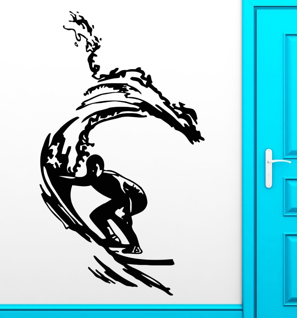 New Arrival Free Shipping Diy Wallpaper Surf Sticker