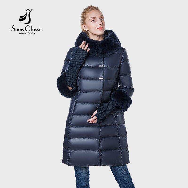 SnowClassic 2018 veste femmes camperas mujer abrigo invierno manteau femmes parc plus taille D'hiver col de fourrure chapeau poignets épais warm6XL