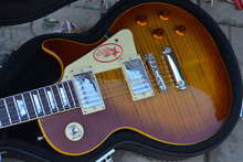 Großhandel Custom shop 1959 R9 Tiger Flamme elektrische gitarre Ems-freies Verschiffen