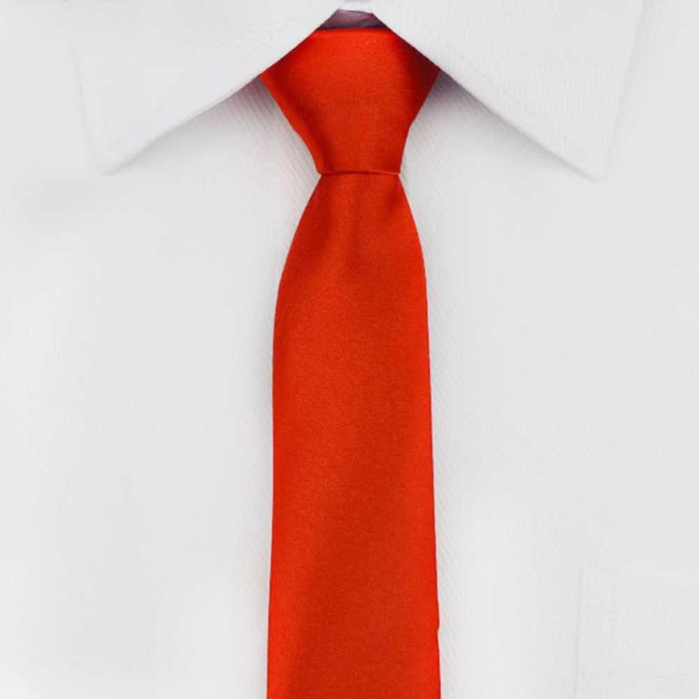 Wstępnie związany krawat mężczyzna Skinny Zipper krawaty czerwony czarny niebieski jednolity kolor żakardowe Slim wąski pan młody sukienka na imprezę krawat AS1648