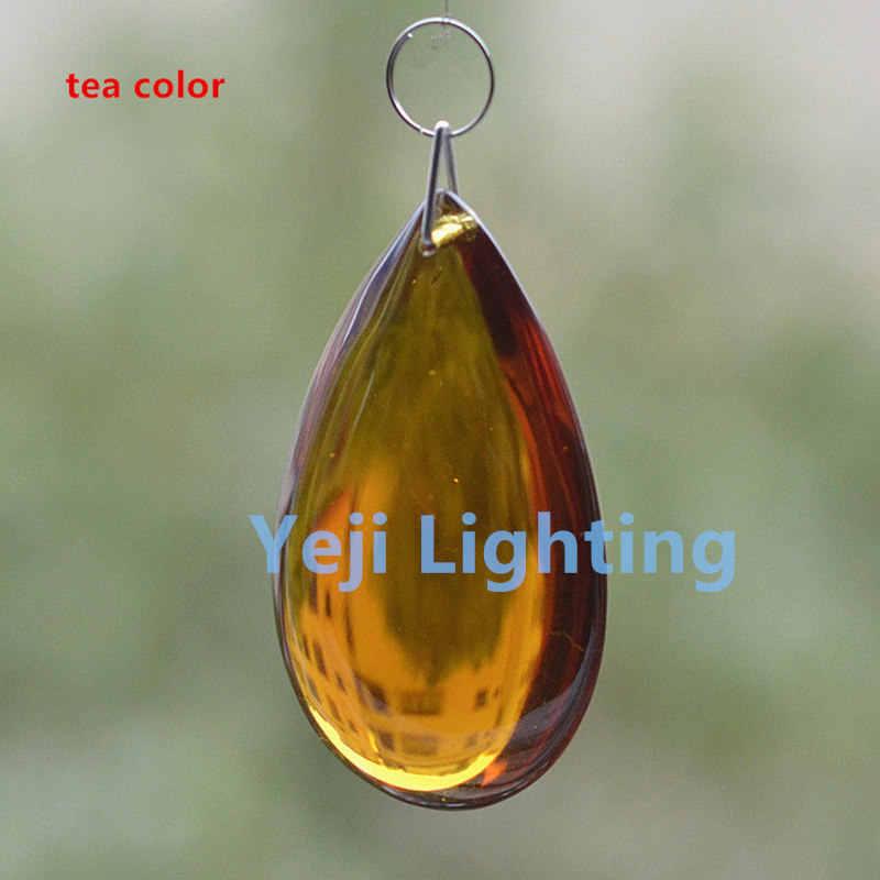 מים אגל צורת קריסטל נברשת קריסטל חרוזים עבור led תליון אור בציר רטרו נר אורות קריסטל חרוזים מנורות DIY