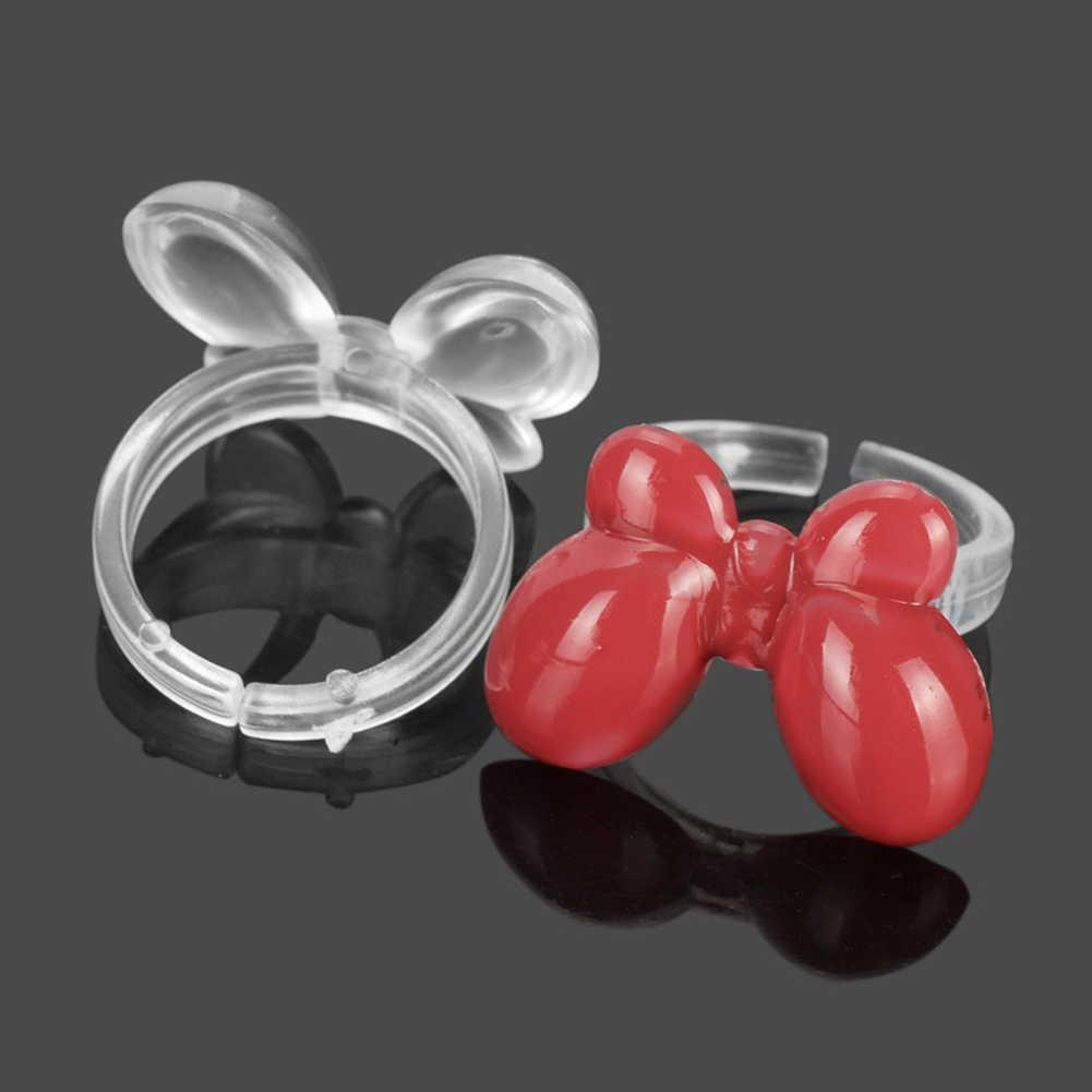 50Pcs Nail UV Gel Pernis Display Stand Plastik Kupu-kupu Praktek Cincin Kuku Seni Alat Aksesoris Kuku Baru
