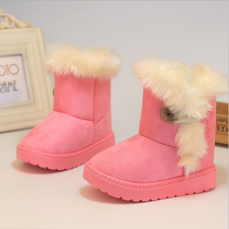 Mother & Kids Winter Girls Snow Boots Thicker Warm Plush Boots For Children Kinder Boots Classic Girl Baby Toddler Shoes Good Heat Preservation