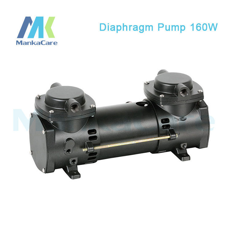 Manka Care - 12V(DC) 70L/MIN 160W Mini Diaphragm Vacuum Pump /Silent Pumps/Oil Less/Oil Free/Compressing Pump