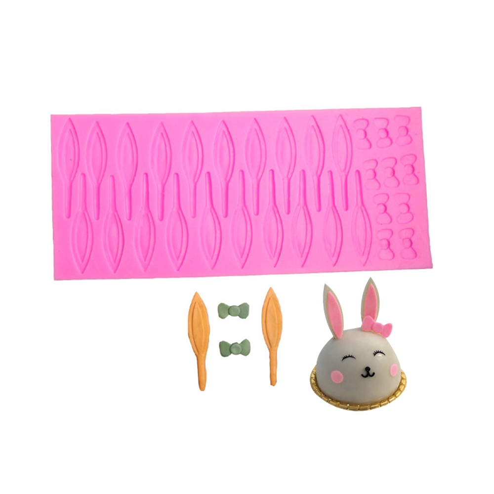 หูกระต่ายกุทัณฑ์แม่พิมพ์ซิลิโคนที่ทำด้วยมือF Ondant
