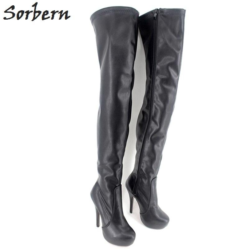 ... Night Club Shoes Women. . Sorbern Sexy Over The Knee Boots Platform  High Heels Platforms Black Boots Stilettos Fetish High Heels. sku   32846973074 da99f93d6703