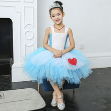 5c047805183 Alice in Wonderland Maid Lolita Tutu Dress for Kids Girl Fairy Halloween  Alice Cosplay Dress Flower Girl Fancy Dress Kid Clothes