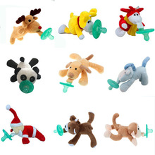 Baby Pacifier For Newborns Nipples For Children Chupeta Para Bebe Plush Toy Silicone Teeth Soothers Pacifiers Nipple Teat