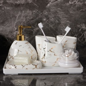 Image 5 - Jeu daccessoires de salle de bain en céramique