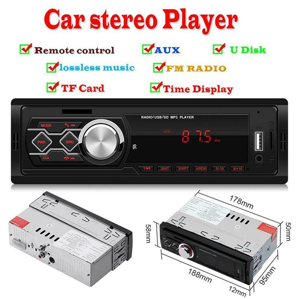 Radio Cassette Player 1788E 12V Universal Car Stereo MP3 Music Player FM Radio AUX TF Card U Disk Car Accessories