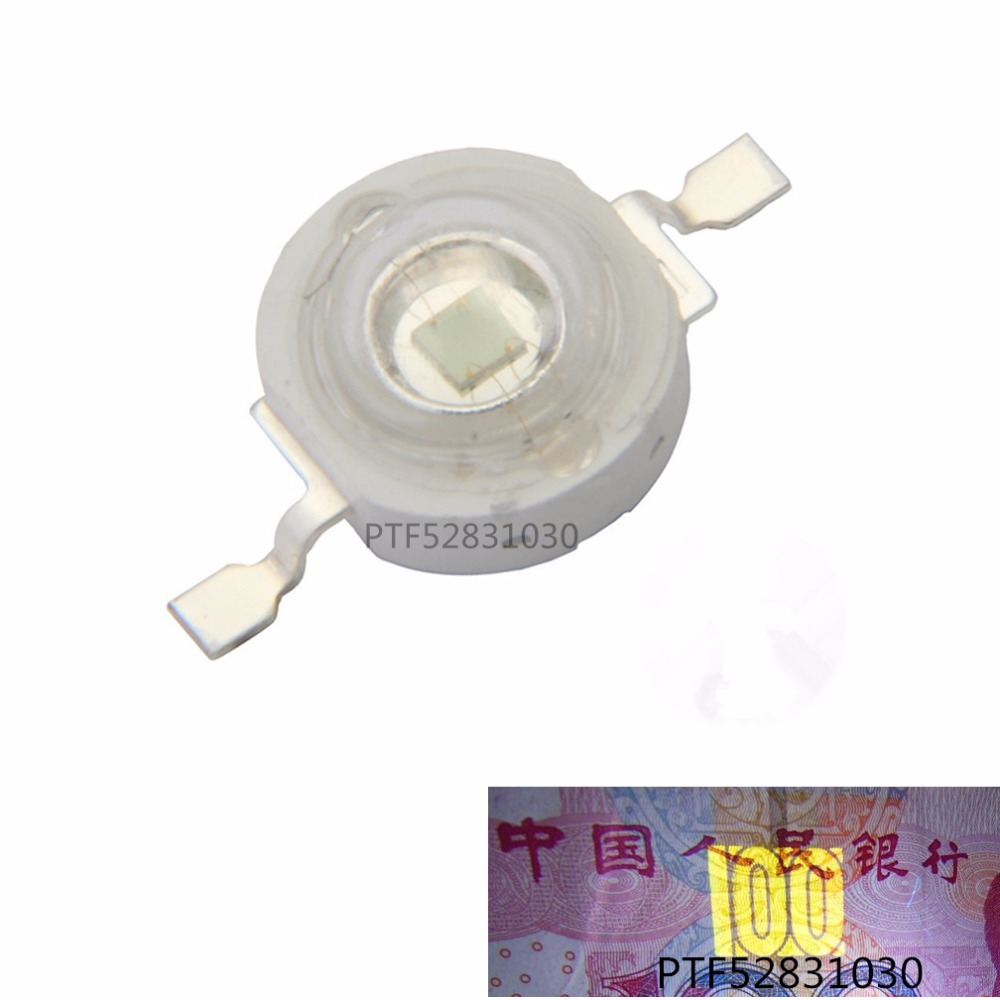 10pcs 3W High Power LED UV Light Chip 365nm 375NM 385nm 395nm 400nm 415nm 430nm Ultra Violet DIY