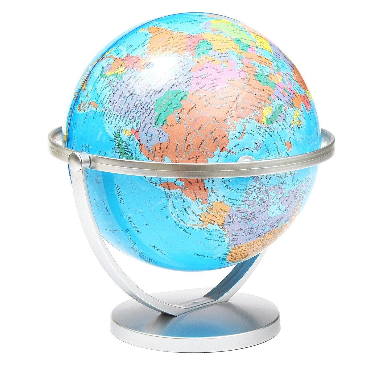 MIRUI 20 cm 360 degrés Rotation monde Globe terre carte avec support enfants géographie jouets éducatifs maison bureau anglais + chinois