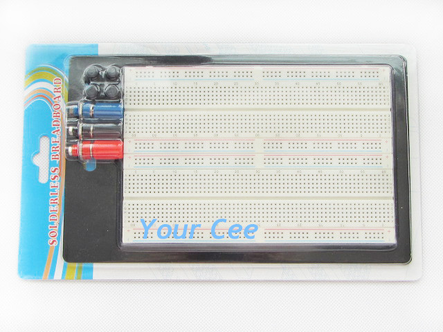 Solderless Breadboard Protoboard  Circuit beta ZY-204 MB-102 Combination Plates Tie-Point 1660Solderless Breadboard Protoboard  Circuit beta ZY-204 MB-102 Combination Plates Tie-Point 1660