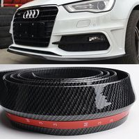 A4 B8 A5 A6 A7 A8 Fake Carbon Fiber PU Car Styling Front Bumper Lip Spoiler for Audi Any Car 250CM