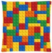 Customized Hot Sale Luxury Printing Custom Funny Lego Blocks Lego Bricks Square Pillowcase Throw Pillow cover