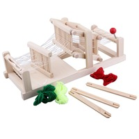 Wooden Knitting Board Multifunctional Weave Loom Children Toy Craft Educational Gift Craft Yarn Kit DIY