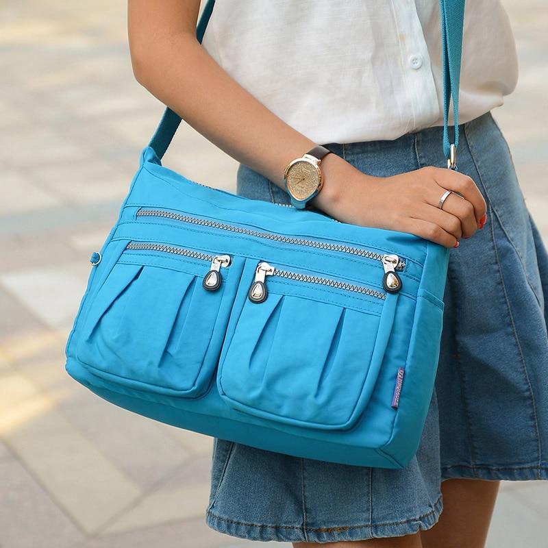 10 colors Women Solid Handbags Brand Original Bag Woman Nylon Shoulder Crossbody Bag Waterproof bolsa feminina