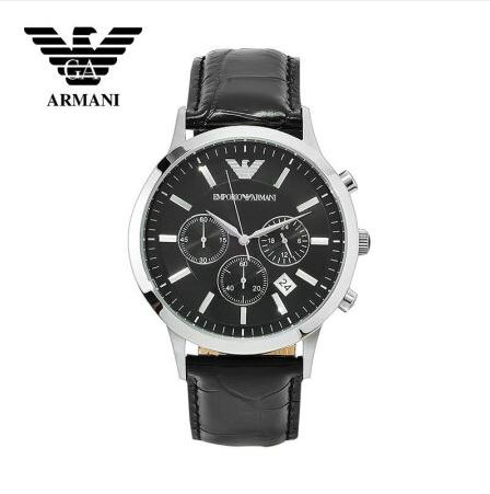 DHL Original Giorgio Armani watches multifunctional business casual round quartz watch Armani men's watch AR2447 барсетка giorgio ferretti business 3276 019 rosolare gf