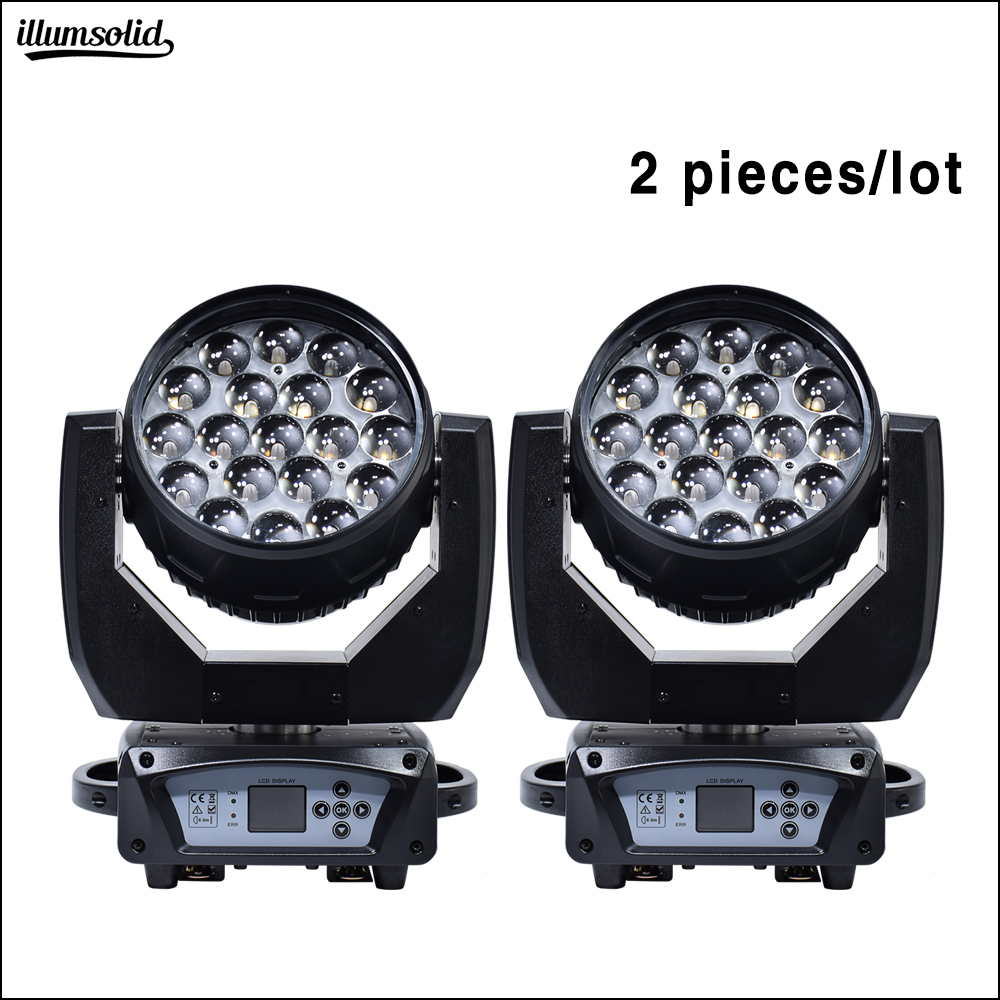 19x15W zoom Washing moving head Disco light dmx led Beam party lights for dj Nightclub Stage Lighting Effect 2pcs/lot