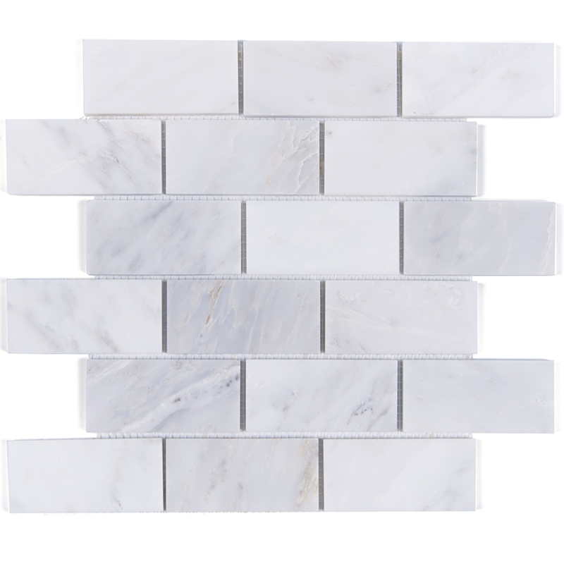 US $228.0 |Carrara Weiß Grau Marmor Mosaik fliesen Küche backsplash  Badezimmer dusche boden zu hause wand steinfliesen, FREIES verschiffen, ...