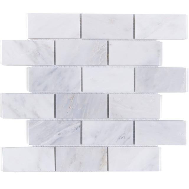 Carrara Weiss Grau Marmor Mosaik Fliesen Kuche Backsplash Badezimmer