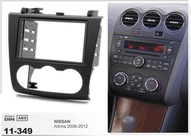 11 349 Car Radio Dvd Cd Fascia Facia Panel Frame For Nissan Altima 2006 2012 Stereo Fascia Dash