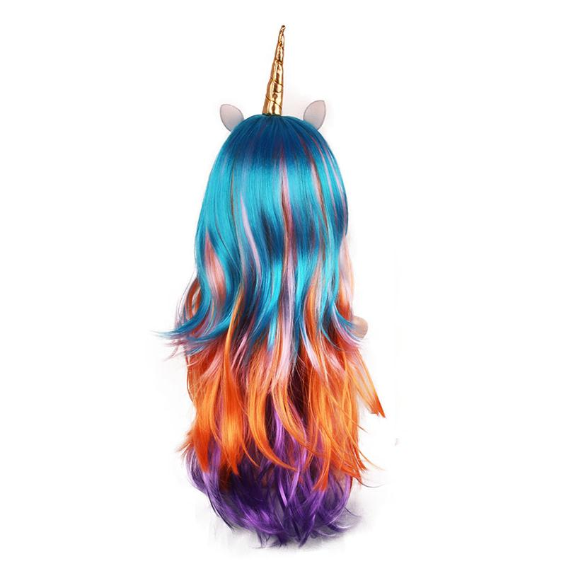 Adults Women Costumes Hair Long Curly Hair Anime Character Halloween Fancy Unicorn Gothic Lolita Coosplay Hot Funny Fancy Female