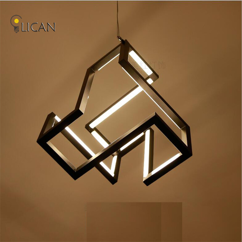 LICAN New designs Modern LED Pendant Lights For Dining Living room White/Black Creative Suspendor Hanging LED Wire Pendant lamp modern guard dining room pendant lights white black golden silver lamp