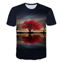 New Product Launch Scenery 3D T shirts Woman T-shirts 3D Printed Tops Hot Sale Tees New Short Sleeve Tshirt Summer Brand