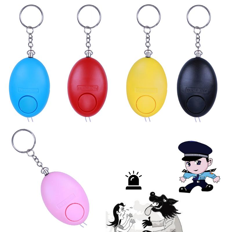 Outdoor Safety Security Personal Alarm Keyring Multi Tools Egg Shaped Panic Rape Attack Alarms