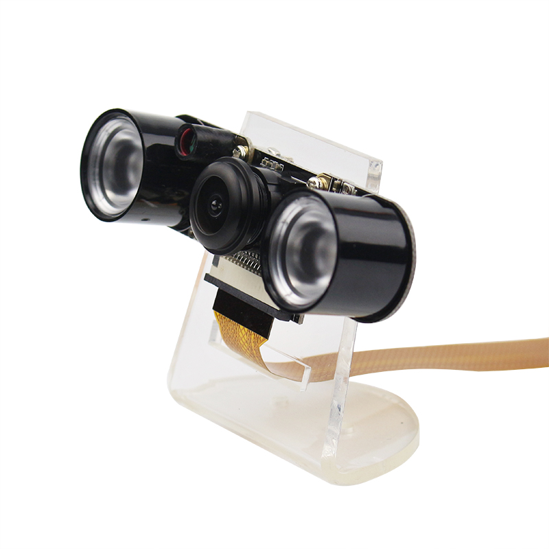 Raspberry Pi Zero W Night Vision Camera Wide Angle Fisheye 5 MP 1080P Camera + 2 Infrared IR LED Light For Raspberry Pi Zero W