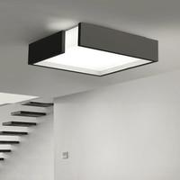 Modern Remote control square LED panel surface mounted ceiling lamp White/Black bathroom lighting AC110 240V luminarias para