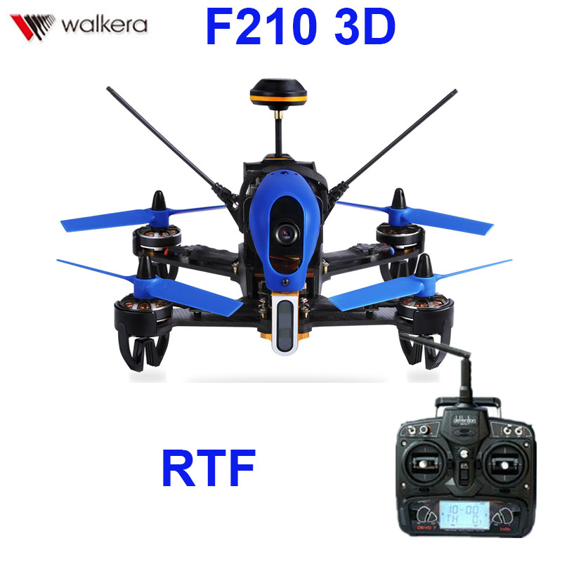 (In stock) Original Walkera F210 3D With Devo 7 transmitter racing Drone quadcopter with OSD / 700TVL Camera RTF original walkera f210 with devo 7 transmitter rc drone quadcopter with osd 700tvl camera battery charger