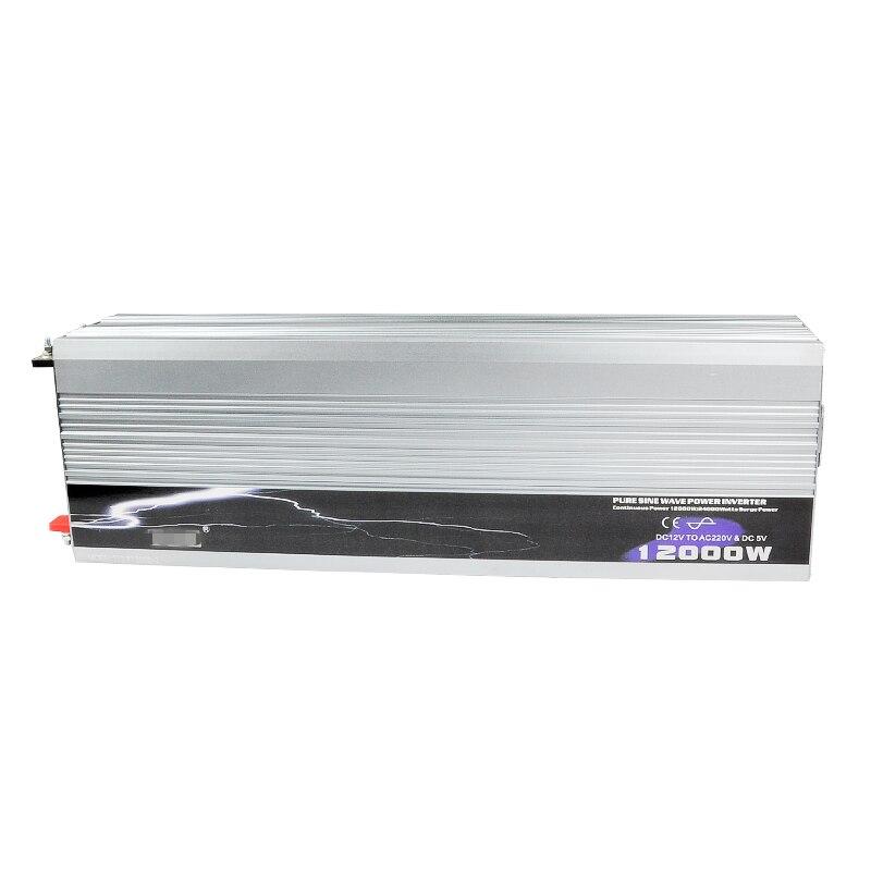 12000 w Voiture Onduleur Onde sinusoïdale Pure DC 12 v/24 v/48 v à AC 220 v hors Gird Solaire/Vent Onduleur de Forte Puissance Outils Converter + USB