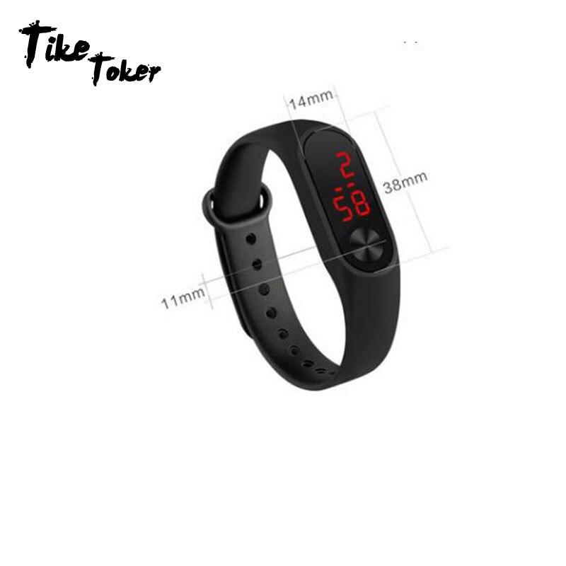 Senior Led Digital Display Männer Frauen Mode Sport Uhren Junge Mädchen Im Freien Silica Gel Armband Uhr Kinder Armbanduhr Montre Digitale Uhren Uhren