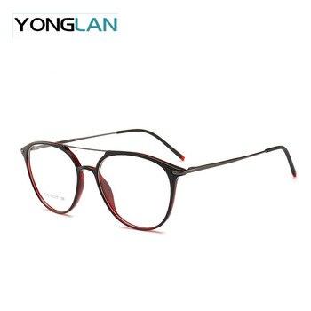 Большой Размеры итальянский дизайн мужские Оптические очки Frame TR90 Пластик Титан двойной нос близорукость прозрачные линзы Gafas очки