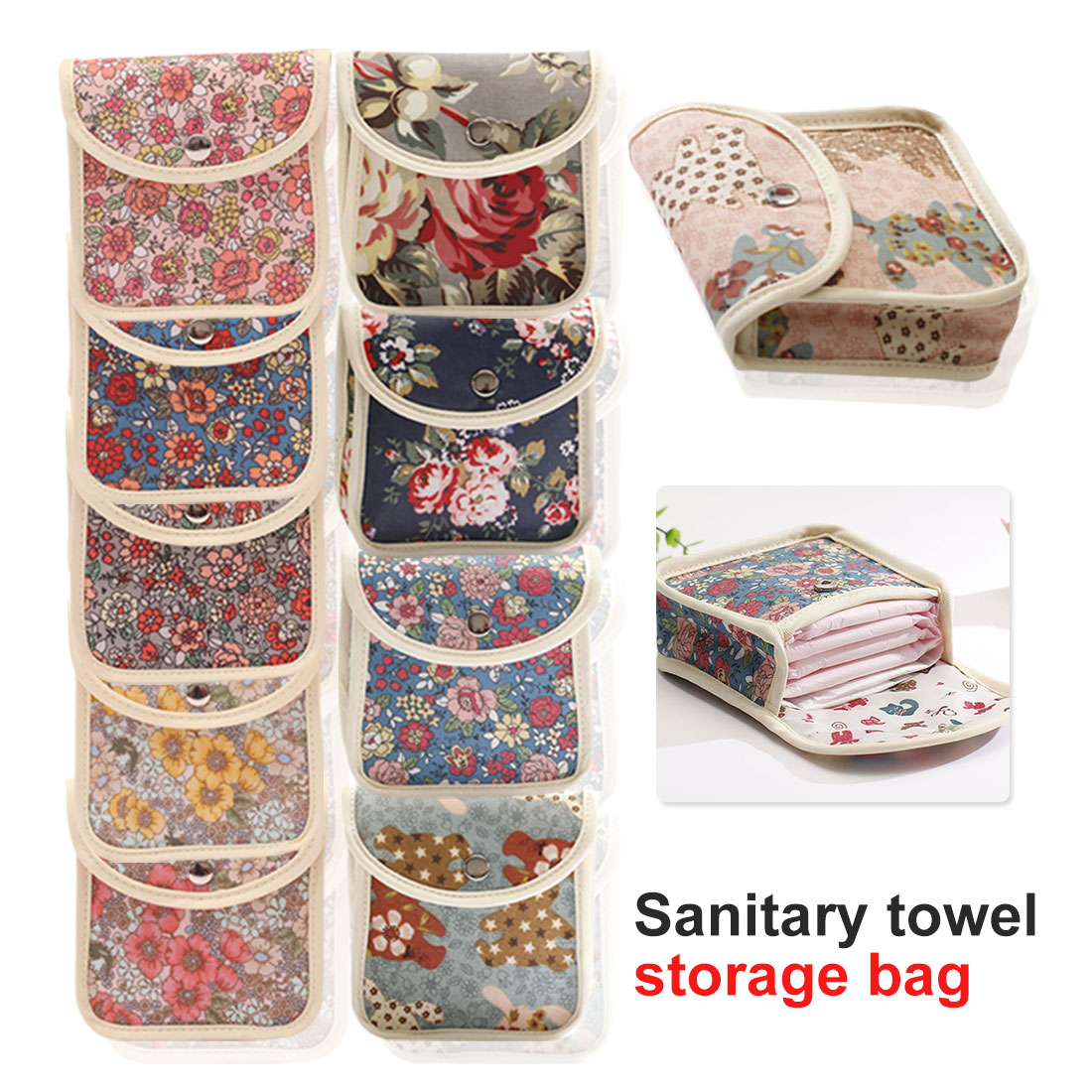 Napkin Also Can Be Coin Makeup Bag Makeup Tool New Sanitary Pads Bags Wet Bag Reusable Bag For Mama Cloth Pads Menstrual